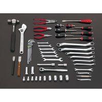 エスコ(esco) [55個組] ツールワゴン付工具セット 1セット EA612SC-62(直送品)