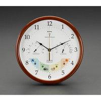 エスコ 直径270mm掛時計(温度・湿度計付) EA798CN-10 1個 (直送品)