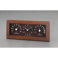 エスコ 122x292x38mm掛時計(温度・湿度計付) EA798CN-13 1個 (直送品)