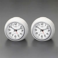 エスコ 104x114x103mm[電波]置時計 EA798CA-136 1セット(2個) (直送品)