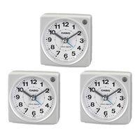 エスコ 77x75x40mm[電波]置時計 EA798CA-137 1セット(3個) (直送品)