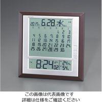 エスコ 286x290x25mm[電波]掛・置兼用時計 EA798CS-2 1個 (直送品)