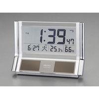 エスコ 141x202x67mm[電波]置時計・ソーラー電源 EA798CS-4 1個 (直送品)