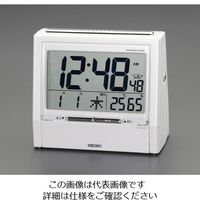 エスコ 108x122x62mm[電波]置時計 EA798CS-6 1個 (直送品)
