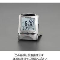 エスコ 76x61x77mm置時計(デジタル) EA798CA-143 1セット(2個) (直送品)