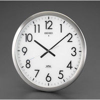 エスコ 直径421mm[電波]掛時計 EA798CC-111 1個 (直送品)