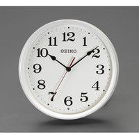 エスコ 直径250mm[電波]掛時計 EA798CC-120 1個 (直送品)