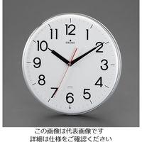 エスコ 直径294mm[電波]掛時計 EA798CC-124 1個 (直送品)