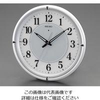 エスコ 直径332mm[電波]掛時計 EA798CC-125 1個 (直送品)