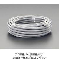 エスコ(esco) 300V/7A/50mビニールキャブタイヤケーブル(2芯/黒) 1巻 EA940AH-155 (直送品)