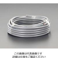 エスコ(esco) 300V/7A/50mビニールキャブタイヤケーブル(3芯/灰) 1巻 EA940AH-205 (直送品)
