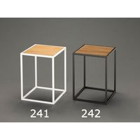 エスコ 350x350x480mmサイドテーブル(ブラック) EA954HC-242 1セット(2個) (直送品)