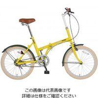 エスコ 20インチ折畳み式自転車(イエロー) EA986Y-16C 1台 (直送品)
