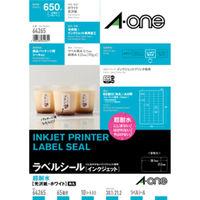 エーワン ラベルシール 超耐水 インクジェット 光沢紙 白 A4 65面 1袋(10シート入) 64265 (取寄品)(取寄品)