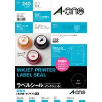 エーワン ラベルシール 超耐水 インクジェット 光沢紙 白 A4 24面 丸型 1袋(10シート入) 64424 (取寄品)(取寄品)