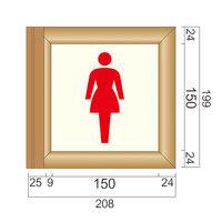 フジタ 突出型木製サイン TWY150 ピクト(女性トイレ) 81-1501(直送品)
