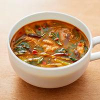 食べるスープ 豚肉と青梗菜の胡麻味噌担々