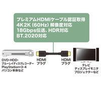 プレミアムHDMIケーブル 1m 黒 KM-HD20-P10 1本