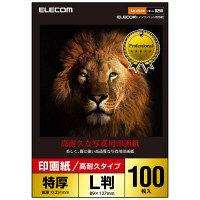 エレコム 光沢写真用紙/印画紙特厚/高耐久/L判/100枚 EJK-ASL100 1個(100枚入) (直送品)