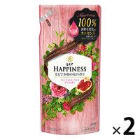 レノアハピネス ナチュラルフレグランス プレミアムフローラル&ざくろの香り 詰め替え 400ml 1セット(2個入) 柔軟剤 P&G