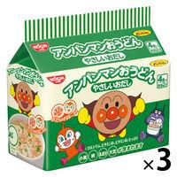 日清食品 アンパンマンおうどん やさしいおだし 88g 4食 [8536]