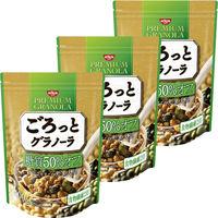 日清シスコ ごろっとグラノーラ 糖質50%オフ きなこ仕立ての充実大豆 400g 1セット(3袋)