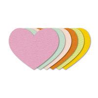 ササガワ ぷちカード ハート 大 16-7030 60枚(12枚:6色各2枚袋入×5冊) (取寄品)