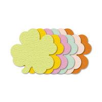 ササガワ ぷちカード クローバー 大 16-7035 60枚(12枚:6色各2枚袋入×5冊) (取寄品)