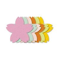 ササガワ ぷちカード サクラ 大 16-7036 60枚(12枚:6色各2枚袋入×5冊) (取寄品)
