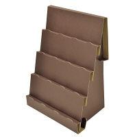 ササガワ ORIGINAL WORKS 紙製組立式傾斜かざり棚 ブラウン 44-5807 2個袋入 (取寄品)