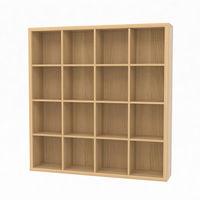白井産業 セパルテック 重厚感のある本棚 書庫 セミオーダーラック A4ファイル対応 木製 ナチュラル 幅1447×奥行283×高さ1494mm(直送品)