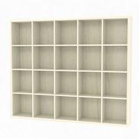白井産業 セパルテック 重厚感のある本棚 書庫 セミオーダーラック A4ファイル対応 木製 アイボリー 幅1795×奥行283×高さ1494mm(直送品)