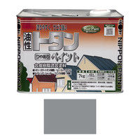 ニッペホームプロダクツ トタンつやありペイント 7kg グレー 4976124184734(直送品)
