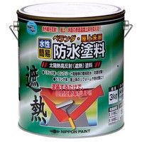 ニッペホームプロダクツ 水性ベランダ・屋上床用防水塗料 3kg グリーン 4976124246807(直送品)