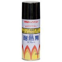 ニッペホームプロダクツ 耐熱用スプレー 300ml 黒 4976124310102 1セット(6本入)(直送品)