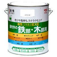 ニッペホームプロダクツ 油性つやありEXE 1.6L ホワイト 4976124430121(直送品)