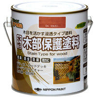 ニッペホームプロダクツ 水性木部保護塗料 0.7L マホガニ 4976124544132 1セット(4個入)(直送品)