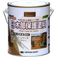 ニッペホームプロダクツ 水性木部保護塗料 1.6L ウォルナット 4976124544385(直送品)