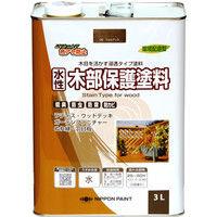 ニッペホームプロダクツ 水性木部保護塗料 3L ウォルナット 4976124544583(直送品)