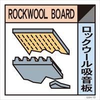 グリーンクロス 産業廃棄物標識 GSH-10 ロックウール吸音板 マグネット 300角 6300000699(直送品)