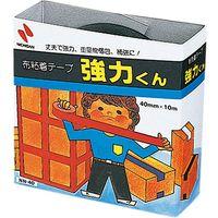 ニチバン 布粘着テープ 強力くん 黒 NN-406 10個(直送品)
