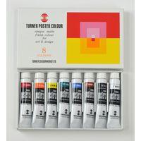 ターナー色彩 ポスターカラー 11ml 8色スクールセット PC8C 1セット(12個)(直送品)の画像