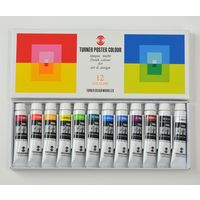 ターナー色彩 ポスターカラー 11ml 12色スクールセット PC12C 1セット(12個)(直送品)の画像