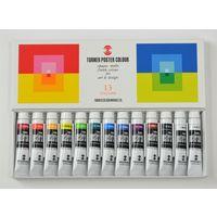 ターナー色彩 ポスターカラー 11ml 13本12色スクールセット PC13C 1セット(12個)(直送品)の画像