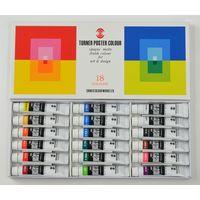 ターナー色彩 ポスターカラー 11ml 18色スクールセット PC18C 1セット(12個)(直送品)の画像