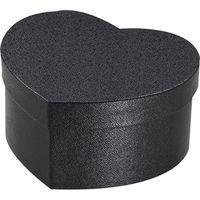 シモジマ 貼箱 ハート 125-65 ブラック 006867101 5個(直送品)
