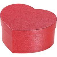 シモジマ 貼箱 ハート 100-50 レッド 006867112 5個(直送品)