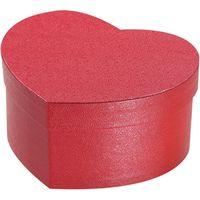 シモジマ 貼箱 ハート 125-65 レッド 006867113 5個(直送品)