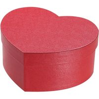 シモジマ 貼箱 ハート 150-70 レッド 006867114 5個(直送品)