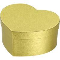 シモジマ 貼箱 ハート 100-50 ゴールド 006867116 5個(直送品)